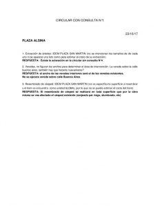 thumbnail of CIRCULAR CON CONSULTA Nº 1-PLAZA ALSINA